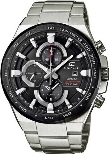 Ηλιακό ρολόι Casio Edifice χρονογράφος με ασημί μπρασελέ EFR-541SBDB-1AEF e6c0062cf52