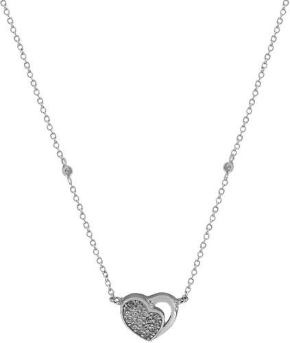 Mertzios.gr Κολιέ Asley ασήμι 925 καρδιά με ζιργκόν - Glami.gr 55cf797919e