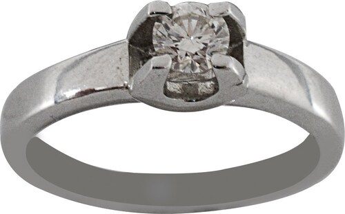 Mertzios.gr Δαχτυλίδι μονόπετρο λευκόχρυσο 18 καράτια με μπριγιάν 0.26ct 71590185185