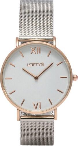 7821c2fe9f Ρολόι Loftys Vintage με ασημί μπρασελέ και λευκό καντράν Y3406-39 ...