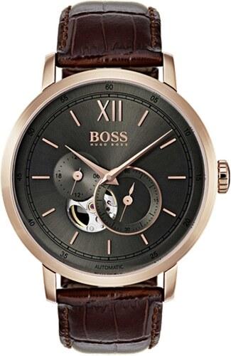 Αυτόματο ρολόι Hugo Boss Men s Signature με καφέ λουράκι 1513506 ... c4623f574e7