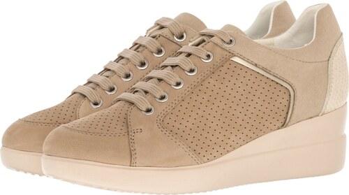 Geox Γυναικεία Παπούτσια Casual D8230B Μπεζ Δέρμα - Glami.gr 72ee2ef359e