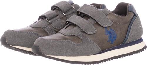 U.S. Polo Assn. Παιδικά Παπούτσια Casual Sunny.Club Σκούρο Γκρι Δέρμα 7682d179097