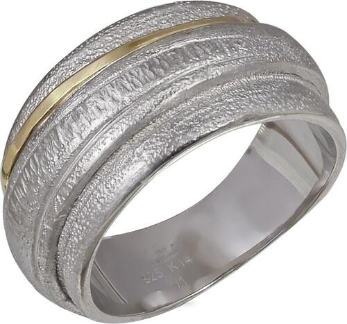 Miss Mad Ασημένιο ανδρικό δαχτυλίδι 925 βαθμών με χρυσό Κ14 - Glami.gr fc7d589df2f