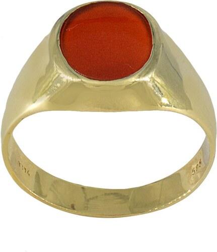 Watchmarket.gr Ανδρικό δαχτυλίδι χρυσό 14 καράτια με κόκκινη πέτρα ... ae7ec31719c
