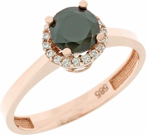 Watchmarket.gr Δαχτυλίδι μονόπετρο ροζ χρυσό 14 καράτια με ζιργκόν ... c983561b038