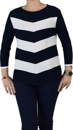403e63c005a4 Γυναικεία Πλεκτή Μπλούζα Albertini 18208 Μπλε Λευκό albertini 18208 mple  leyko