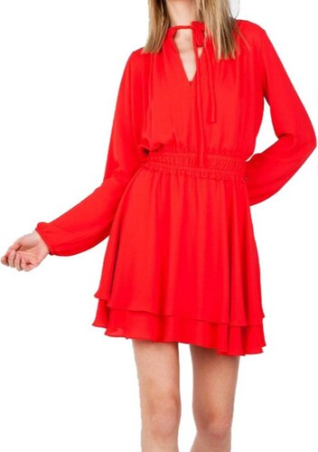 90b6372754d7 Φόρεμα Μίνι Σε Βικτωριανό Στυλ Toi   Moi 50-3343-18 Κόκκινο toimoi ...