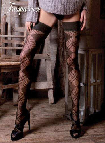 Trasparenze fume (off black) κάλτσες με καρώ σχέδιο Hungary - Glami.gr 92baeb510d7
