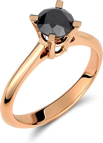 Haritidis Δαχτυλίδι με μαύρο διαμάντι - Glami.gr f9ee70af016