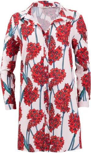 5a220dd3da76 style Φόρεμα κοντό με κόκκινα λουλούδια με κουμπιά μπροστά - Glami.gr
