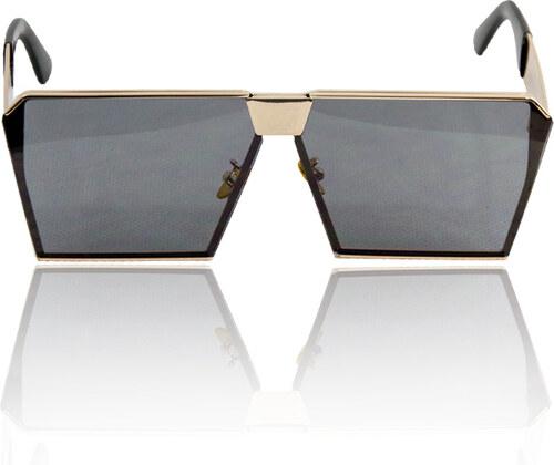 style Γυαλιά ηλίου τετράγωνα με μαύρο φακό και χρυσό σκελετό - Glami.gr b6f95362372
