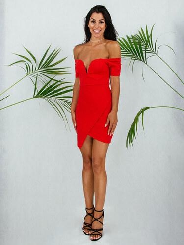 3353cba0cdd8 style Φόρεμα κοντό κόκκινο χαμογελο με ντεκολτέ - Glami.gr