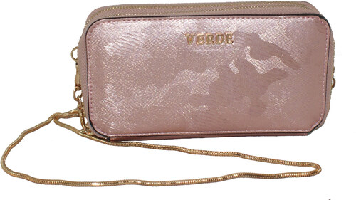 2c6ead2608 Γυναικεία τσάντα - πορτοφόλι χιαστή Verde 16-0004548 σε ροζ χρυσό χρώμα έως  6 άτοκες