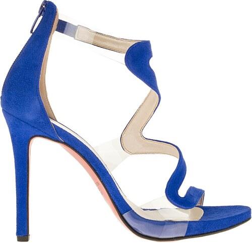 190e87662ef 1001348003 Γυναικείο πέδιλο ψηλό δέρμα καστόρι μπλε *MARK MILAN ...