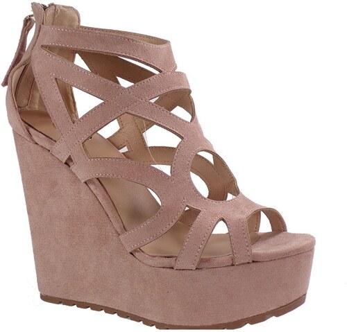 3bd63cfbd6 EXE Shoes Γυναικεία Πέδιλα Πλατφόρμες ROSA-619 Nude G47006917004 exe shoes  rosa-619 nude