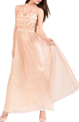 Maxi φόρεμα μουσελίνα με χρυσό μπούστο - Glami.gr ed697956a1a