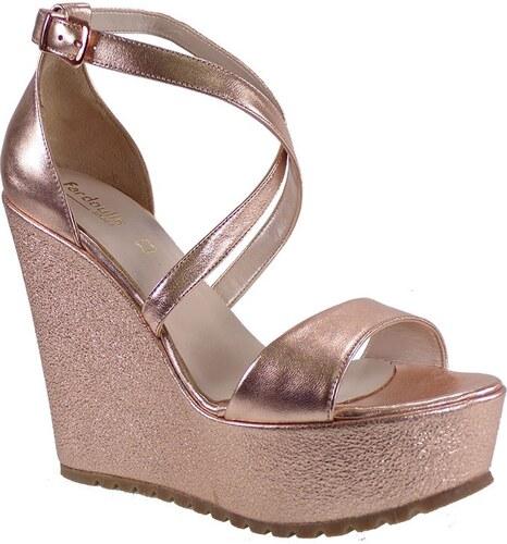 Fardoulis shoes Γυναικείες Πλατφόρμες Πέδιλα 27171 Χαλκός Δέρμα 414266 45a9a4dfb4e