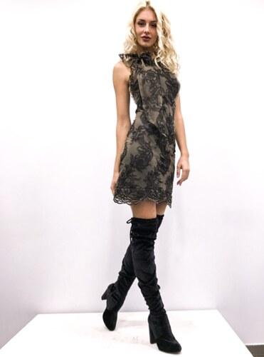 Κοντό φόρεμα δαντέλα με δέσιμο στο λαιμό - Glami.gr 76120060a99