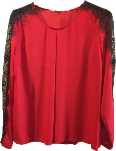 Κόκκινη μπλούζα με δαντέλα στα μανίκια - Glami.gr 335d023dc5d