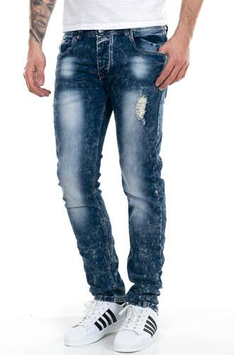 c28721ed49b4 Al Franco Ανδρικό τζιν παντελόνι με ξέβαμμα και σκισίματα - Glami.gr