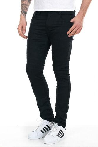 13cdc7c1563e Justing Ανδρικό μαύρο τζιν παντελόνι με λεπτομέρειες γαζιού - Glami.gr