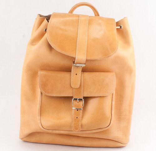 Kouros Δερμάτινα Σακίδια Πλάτης Model 400 Φυσικό Χρώμα 972f1d46943