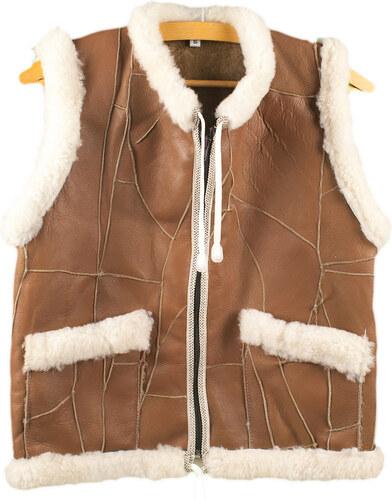 8236decbe57 Dalis Leather Δερμάτινο Γιλέκο Παιδικό Νο 10 Καφέ (Παιδιά Ηλικίας 10 - 12  ετών)