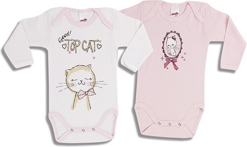 ecb27803d45 Βρεφικά Φορμάκια Minerva TOP CAT για κορίτσι με Μακρύ Μανίκι από 100%  οικολογικό βαμβάκι,