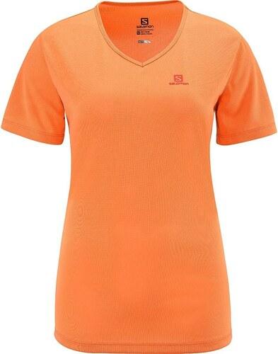 06a31182aad1 Γυναικεία αθλητική μπλούζα κοντομάνικη Salomon Moto Tech Tee W Orange  Feeling Πορτοκαλί Salomon