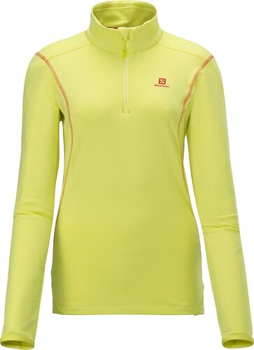 c7bbc2fa61c6 Γυναικεία αθλητική μπλούζα μακρυμάνικη Salomon Discovery HZ Midlayer W  Light Hay Yellow Κίτρινο Salomon