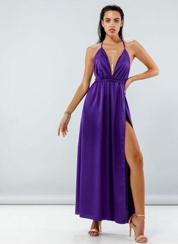 The Fashion Project Maxi σατέν φόρεμα με δέσιμο - 05121021 - Μωβ ... d94ec4d4f2e