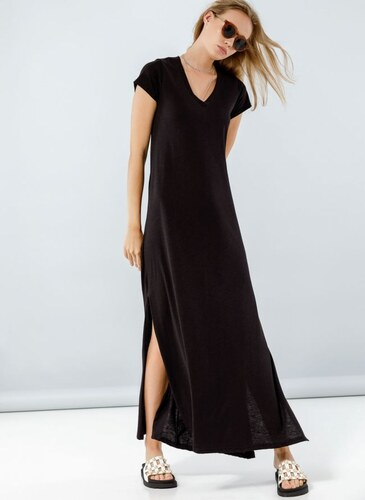 3f06f3ecf356 Noobass Maxi φόρεμα με μανικάκι - Μαύρο - 001 - Glami.gr