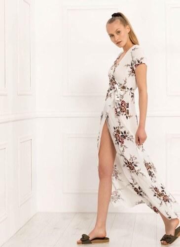 61074a43c044 The Fashion Project Floral κρουαζέ φόρεμα - 04723001 - Λευκό - Glami.gr