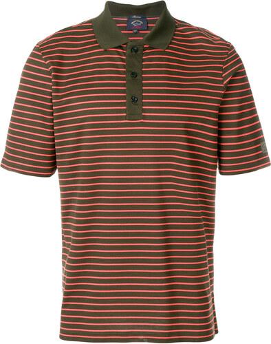24c09efdeaa7 Paul   Shark striped polo shirt - Green - Glami.gr