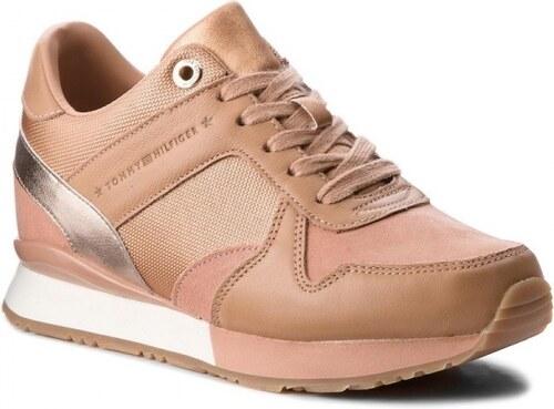 51fc3155e2e Tommy Hilfiger Sneaker Wedge Silky Nude Γυναικεία Sneakers Tommy Hilfiger  FW0FW02977-297
