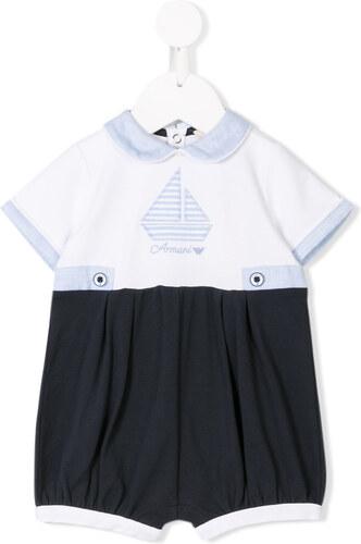 Emporio Armani Kids boat embroidered shorties - Blue - Glami.gr de12e56726e