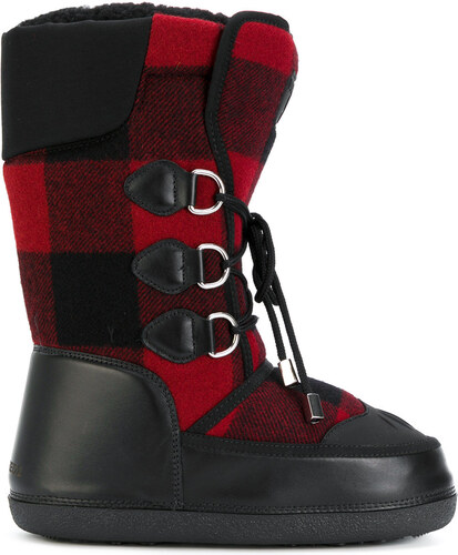 Dsquared2 Ski checked snow boots - Black - Glami.gr e05bd179a38