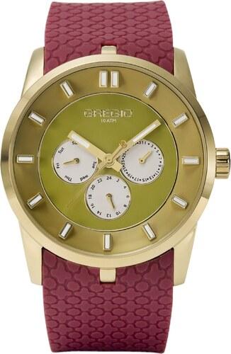 Ρολόι Gregio Plated Days πολλαπλών ενδείξεων με μπορντό λουράκι GR107076 5deefad7f8f