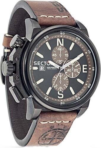 Ρολόι Sector 450 Action χρονογράφος με καφέ λουράκι R3271776007 ... 4dc76c82adc