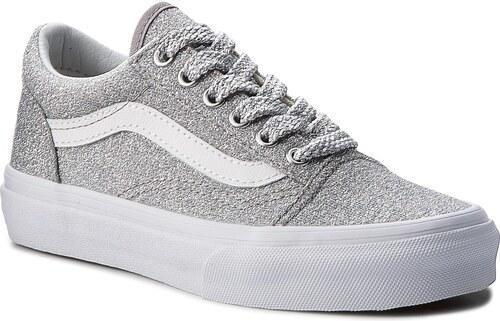 Πάνινα παπούτσια VANS - Old Skool VN0A38HBUAW (Lurex Glitter) Silver ... 5f30b880743