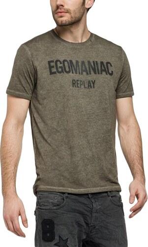 cdf0fe0b99e Replay T-shirt Egomaniac σκούρο λαδί