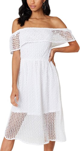 Rut and Circle Rut   Circle Li έξωμο φόρεμα δαντέλα λευκό - Glami.gr e7d51549f50