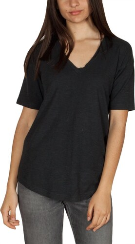 a24057f77201 Thinking Mu γυναικείο hemp t-shirt μαύρο με V-λαιμόκοψη - Glami.gr