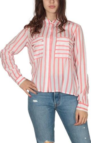 1dc126eedde4 LTB Golibi ριγέ πουκάμισο λευκό-κόκκινο - Glami.gr