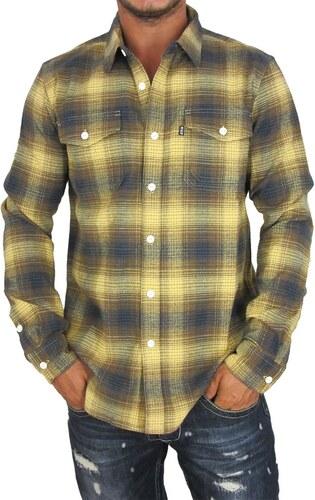 bb0c986cf5d6 Huf ανδρικό πουκάμισο φανέλα Heavy weight καρό μουσταρδί - Glami.gr