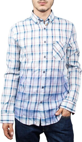 e0916ecd5be5 Missone ανδρικό πουκάμισο καρό λευκό-μπλε - Glami.gr