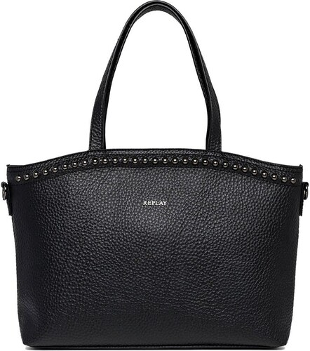Replay faux-δέρμα τσάντα ώμου μαύρη με τρουκ - Glami.gr 14599fff10d