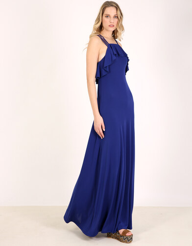 580dd5046aca e-xclusive Μπλέ μάξι φόρεμα - Glami.gr