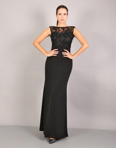 e-xclusive Μάξι κρεπ φόρεμα με 3D δαντέλα. - Glami.gr b1d114193cb